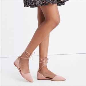 Madewell Arielle D'orsay Blush Lace Up Flats 6.5